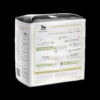 Applecrumby™ Chlorine Free Premium Baby Pull Ups Diapers L20