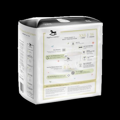 Applecrumby™ Chlorine Free Premium Baby Pull Up Diapers XXL16