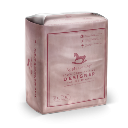 Applecrumby™ Chlorine Free Premium Baby Diaper Pull Up Diapers XL18 (Buy 3 FREE 1 Pack Limited Edition XL16 Designer Pull Up Diaper)